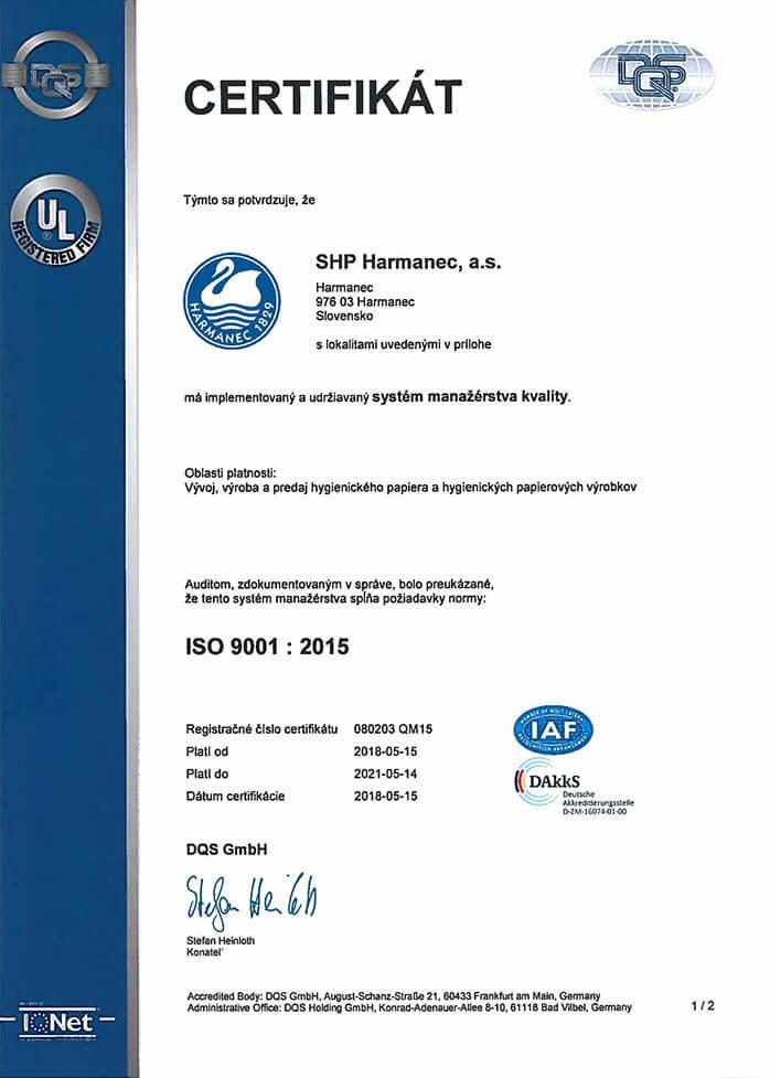 3ca74f897 S cieľom preukázať svojim zákazníkom a obchodným partnerom dôveryhodnosť a  kvalitu našej firmy sme získali základný a najrozšírenejší medzinárodný  štandard ...